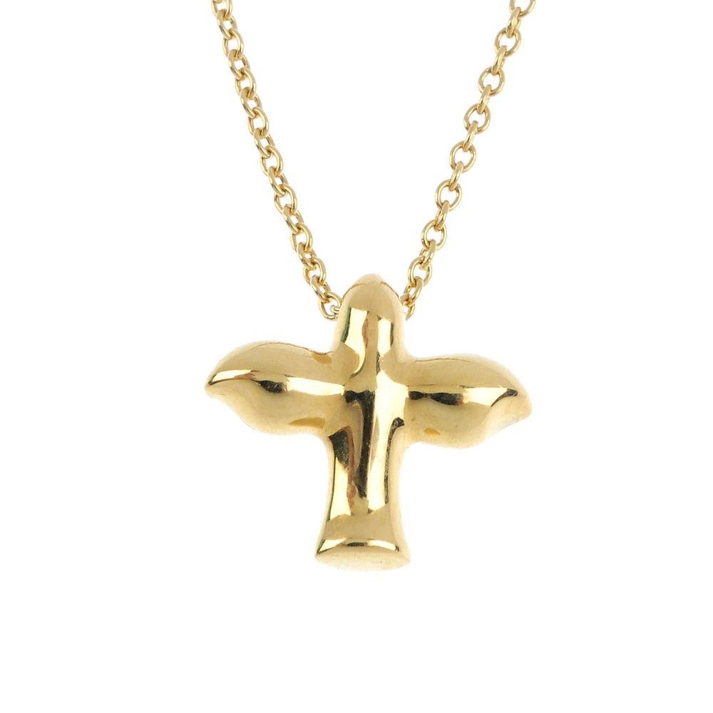 TIFFANY & CO. - a dove pendant. Designed as a stylised
