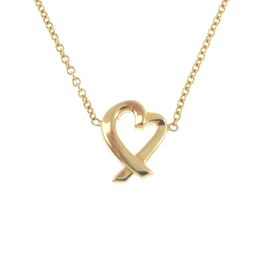 TIFFANY & CO. - A gold 'Loving Heart' pendant. The