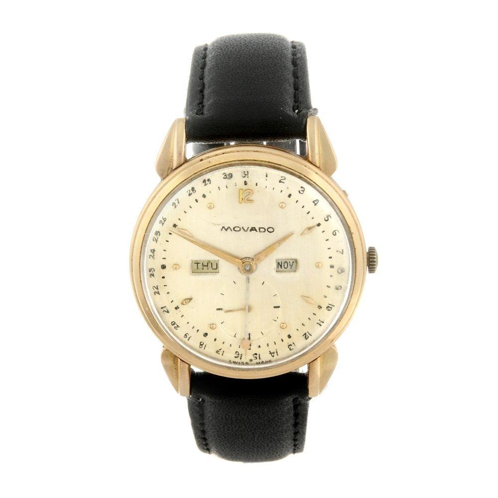 MOVADO - a gentleman's Triple Calendar wrist watch.