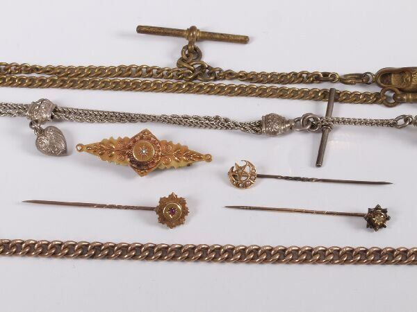 654: A collection of items to include three Edwardian g