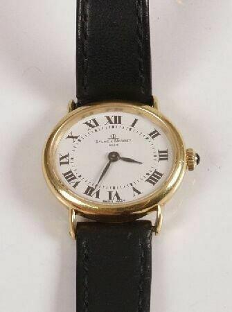 1001: BAUME & MERCIER - lady's 18ct gold wristwatch, th