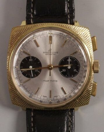 1004: BREITLING - a gentleman's 1960's gold plated Top