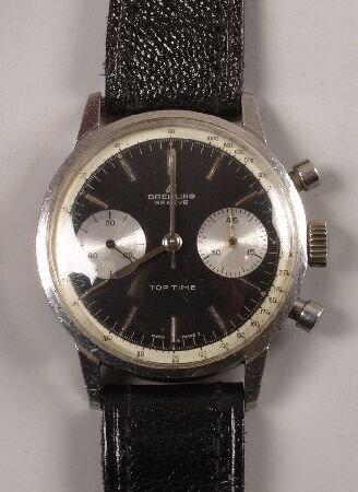 1005: BREITLING - gentleman's stainless steel TOP TIME