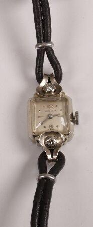 1007: BUCHERER - early 20th century lady's 18ct white g