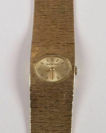 1010: BUECHE -GIROD- ladies 1970's 9ct gold 17 jewel ma