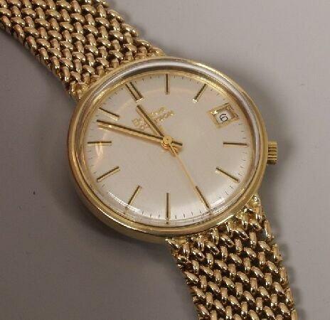 1018: BULOVA - a gentleman's 18ct yellow gold Accutron