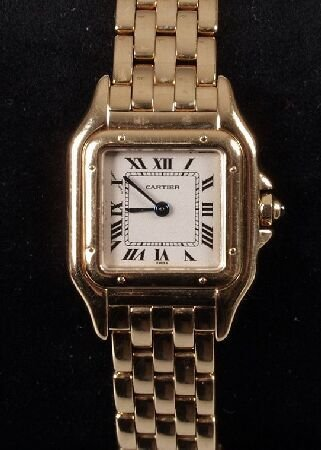 1021: CARTIER - a ladies 18ct yellow gold Panthere de C