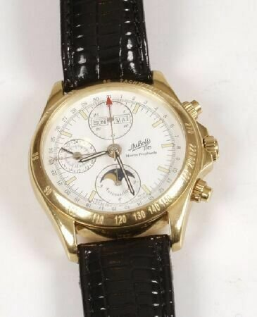 1023: DUBOIS - a gentleman's 18ct yellow gold Perpetual