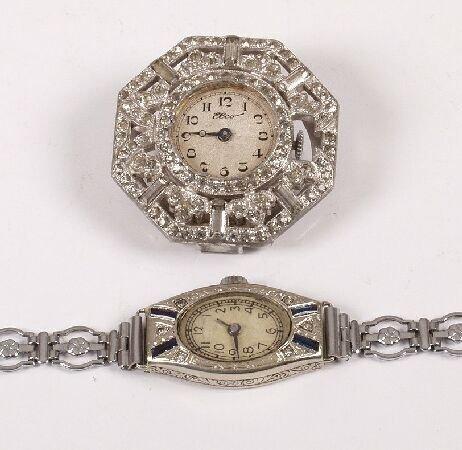 1088: ROLEX - a ladies 14k white gold navette shape coc