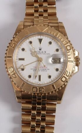 1104: ROLEX - a gentleman's 18ct gold Oyster Perpetual