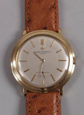 1131: VACHERON & CONSTANTIN - a gentleman's 18ct gold c