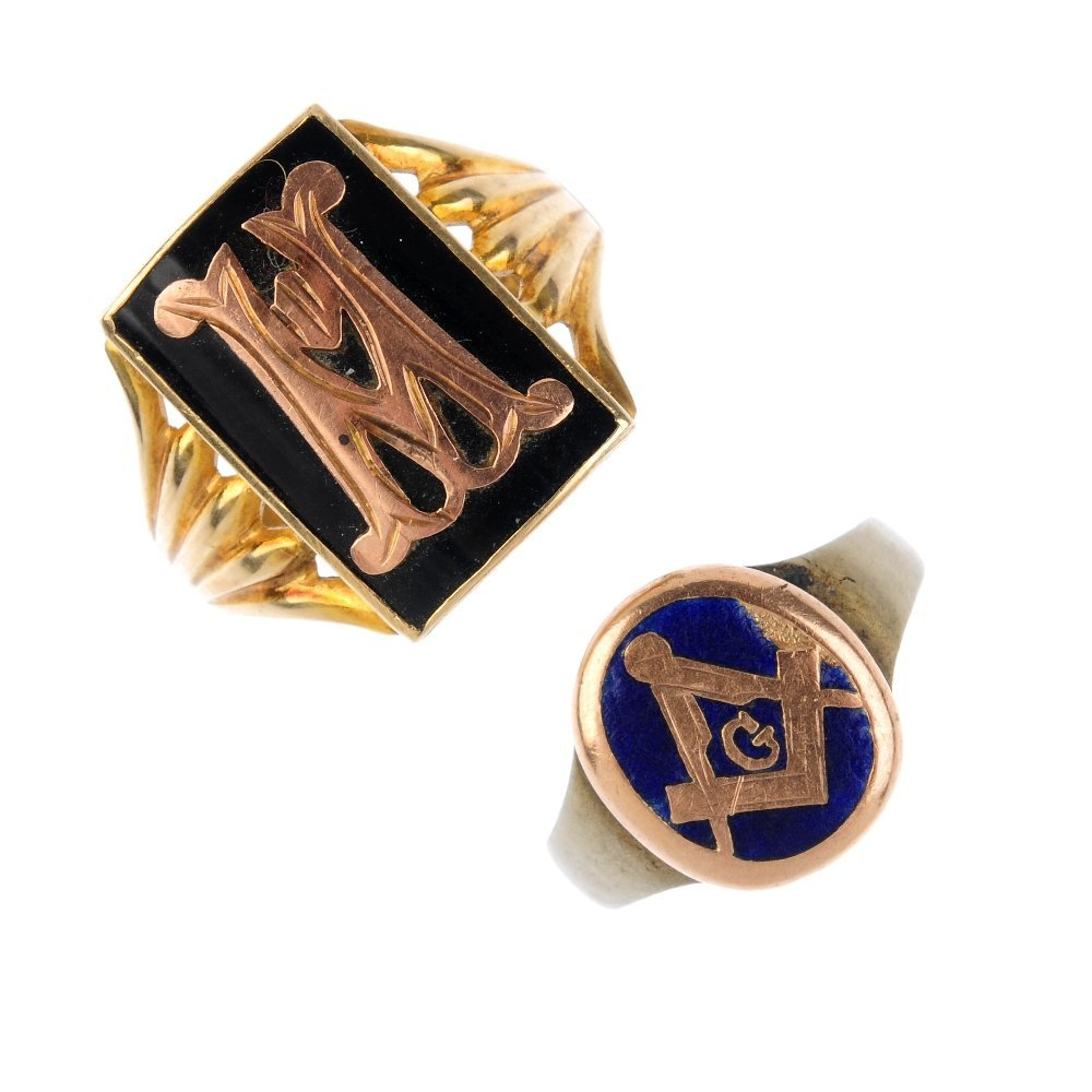 A selection of mostly Masonic jewellery. To include a