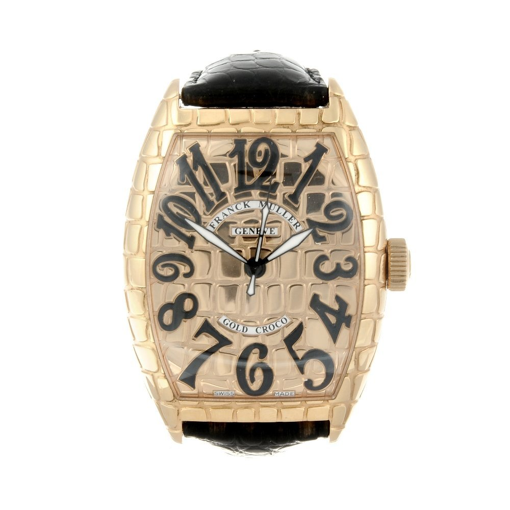 (130977-1-A) FRANCK MULLER - a gentleman's 18ct yellow