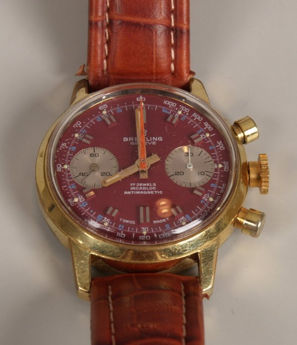 2008: BREITLING - a gentleman's 1950's gold plated 17 j