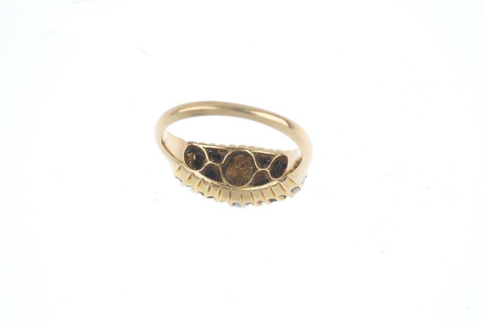 An early 20th century gold opal and diamond ring. The - 2