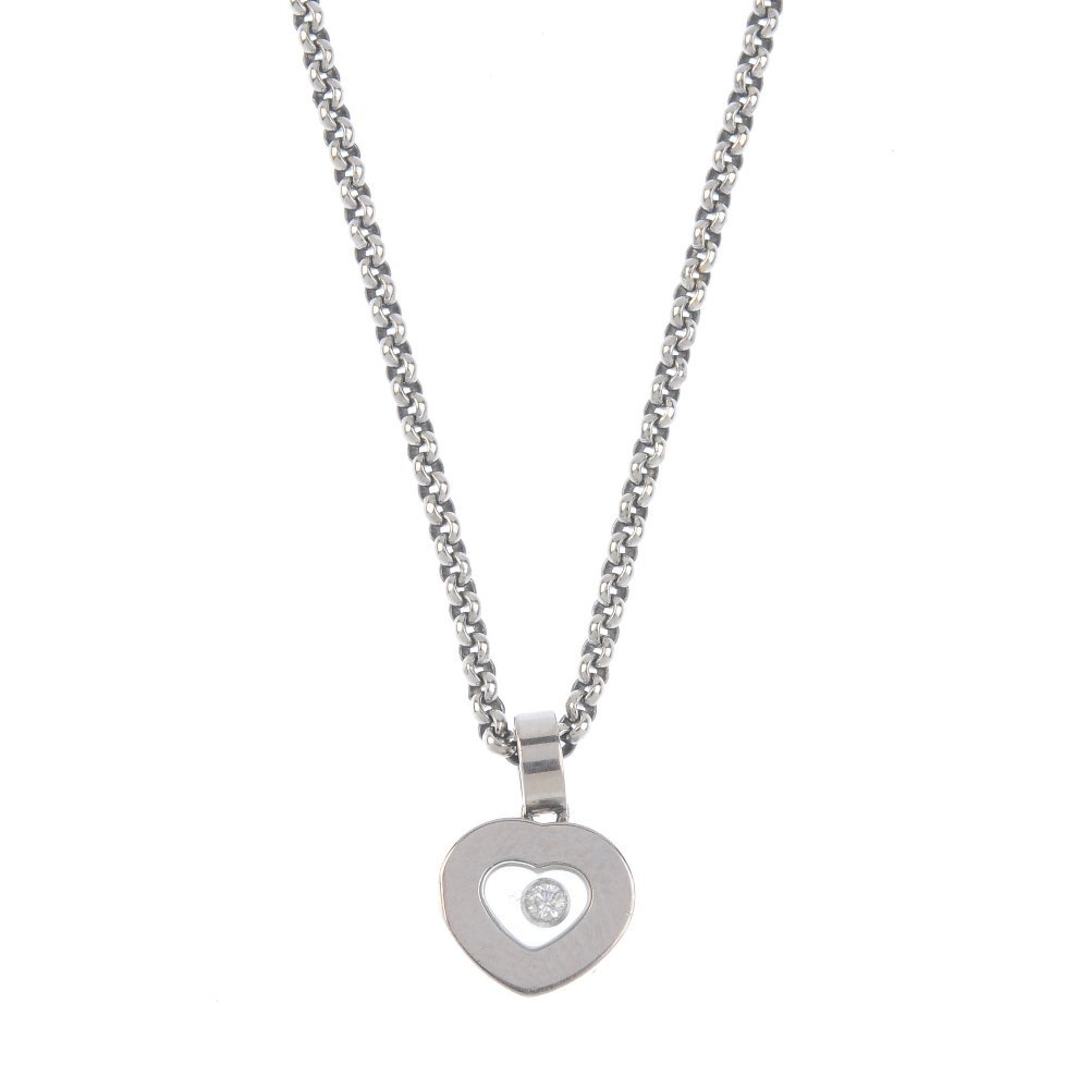 CHOPARD - a 'Happy Diamonds' pendant. The free-moving