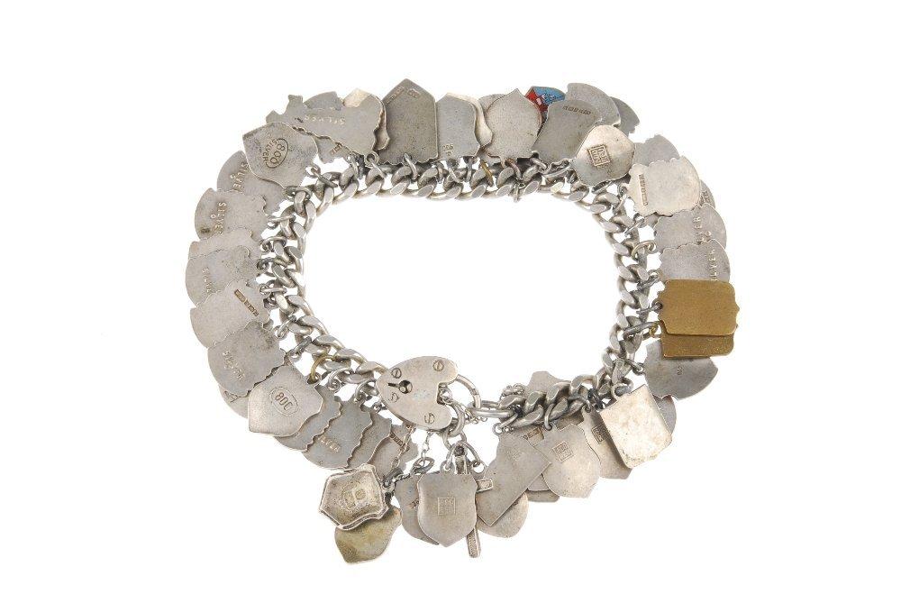 Three charm bracelets with mainly enamel tourist - 2