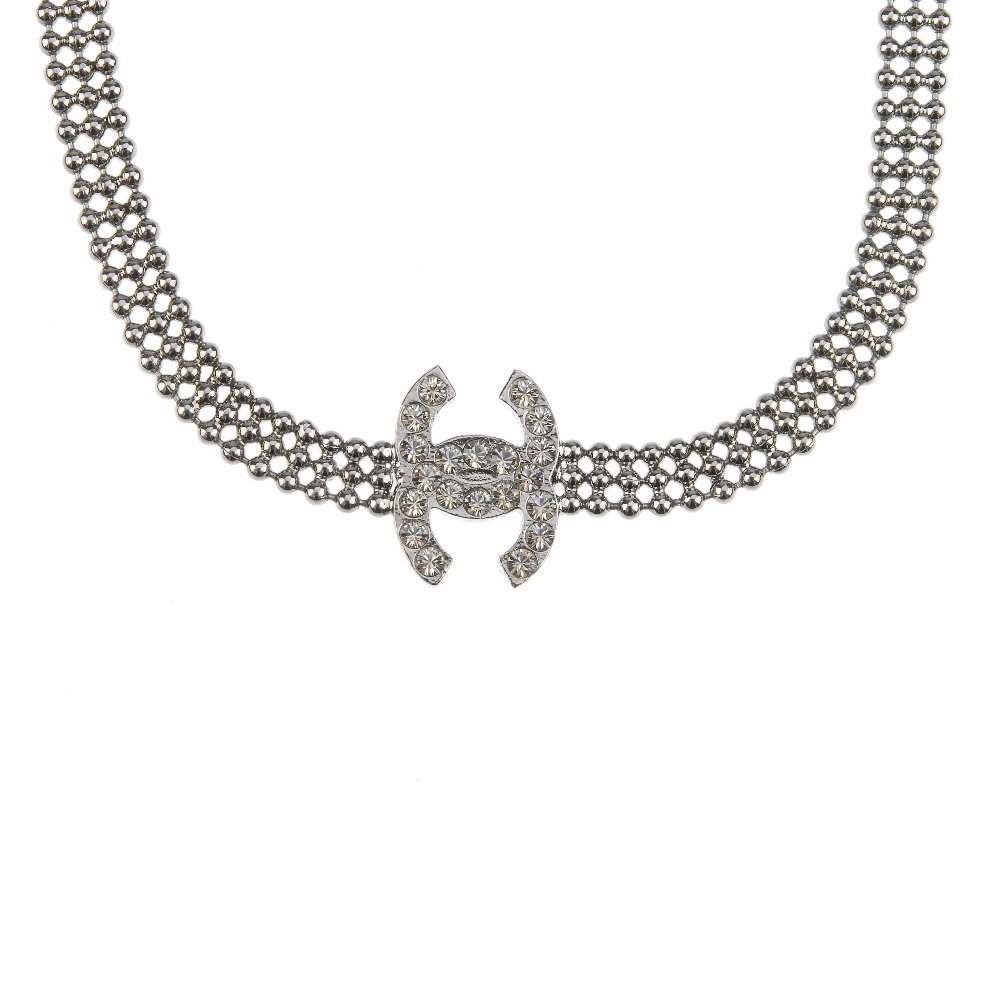 CHANEL - a necklace. The dark metal beaded necklace