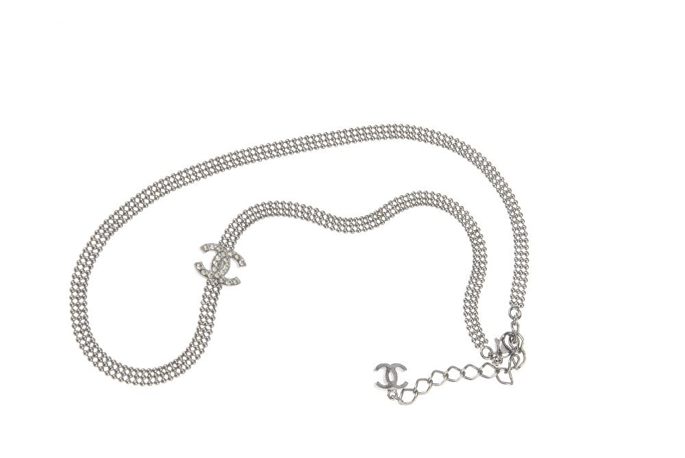 CHANEL - a necklace. The dark metal beaded necklace - 4