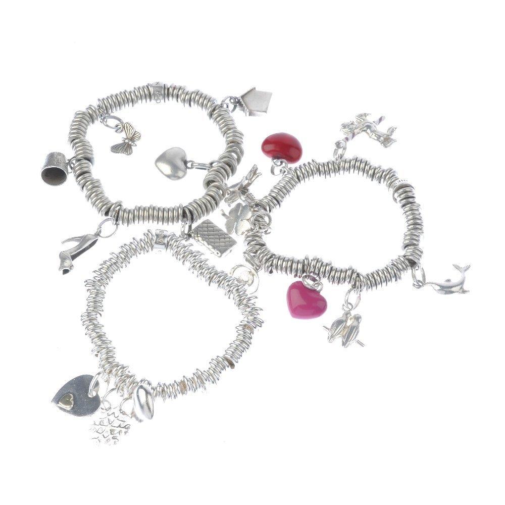 LINKS OF LONDON - three 'Sweetie' charm bracelets. The