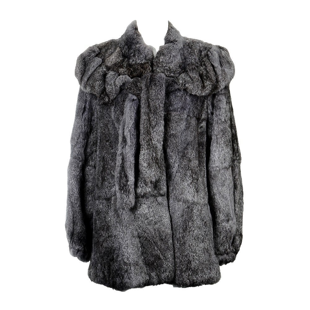 Two coney fur coats. To include a dark brown