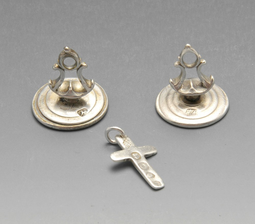 Two George III silver fob seals by Hester Bateman, each
