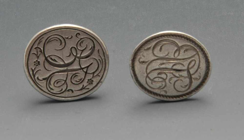 Two George III silver fob seals by Hester Bateman, each - 3