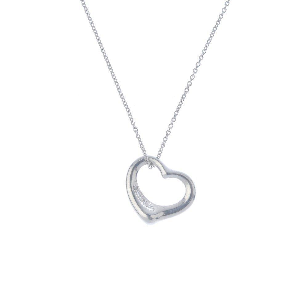 TIFFANY & CO. - a diamond 'Open Heart' pendant. The