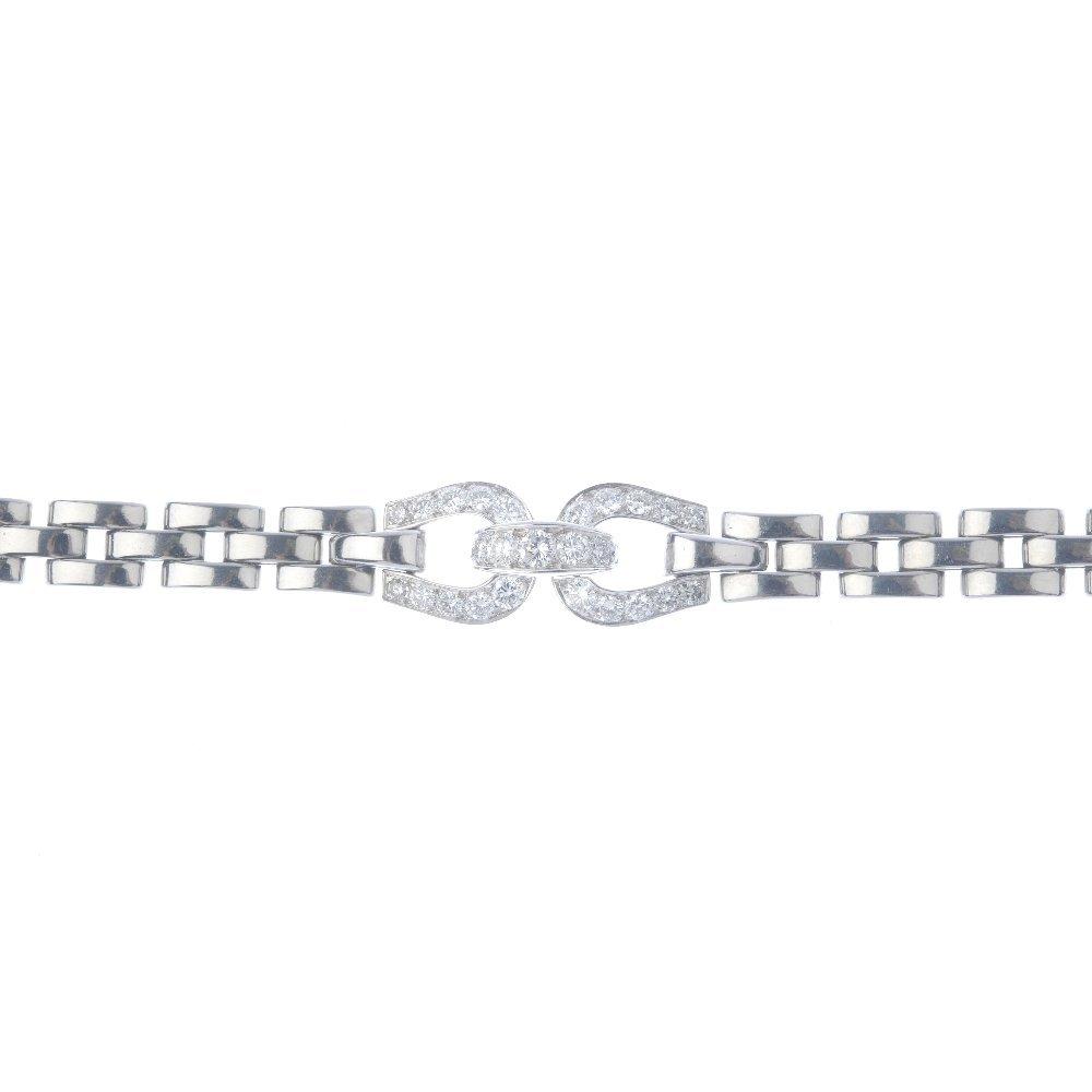 CARTIER - a diamond bracelet. The brilliant-cut diamond
