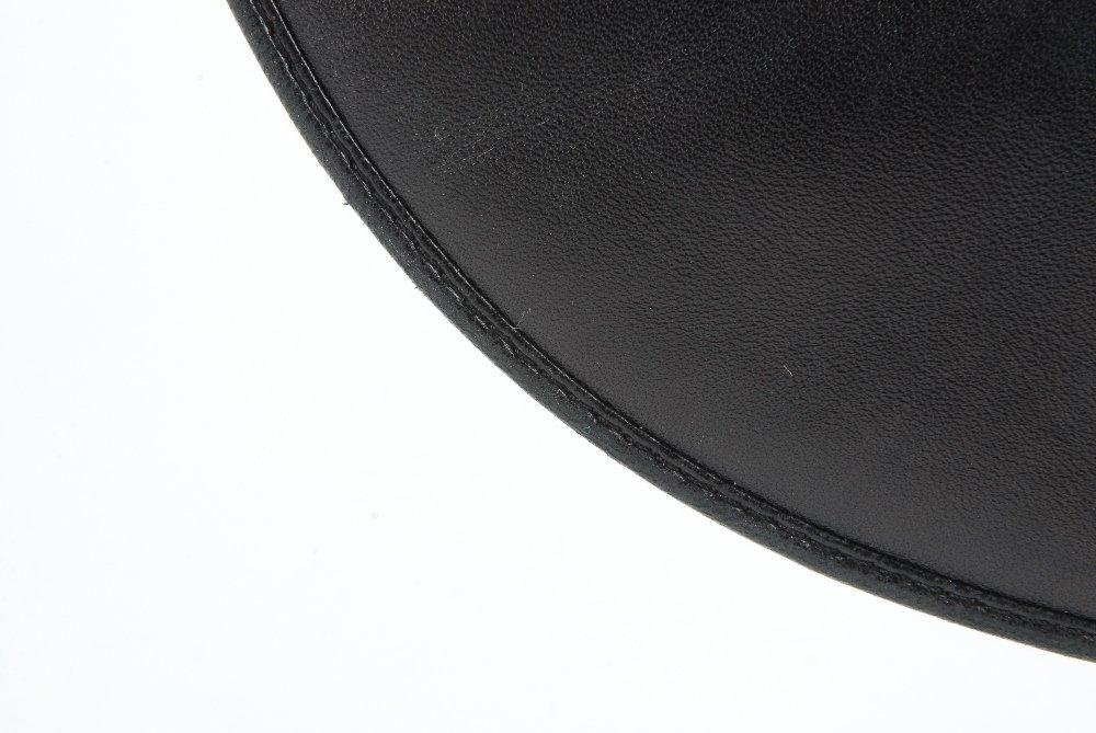 CHRISTIAN DIOR - a black leather braided handbag. - 3