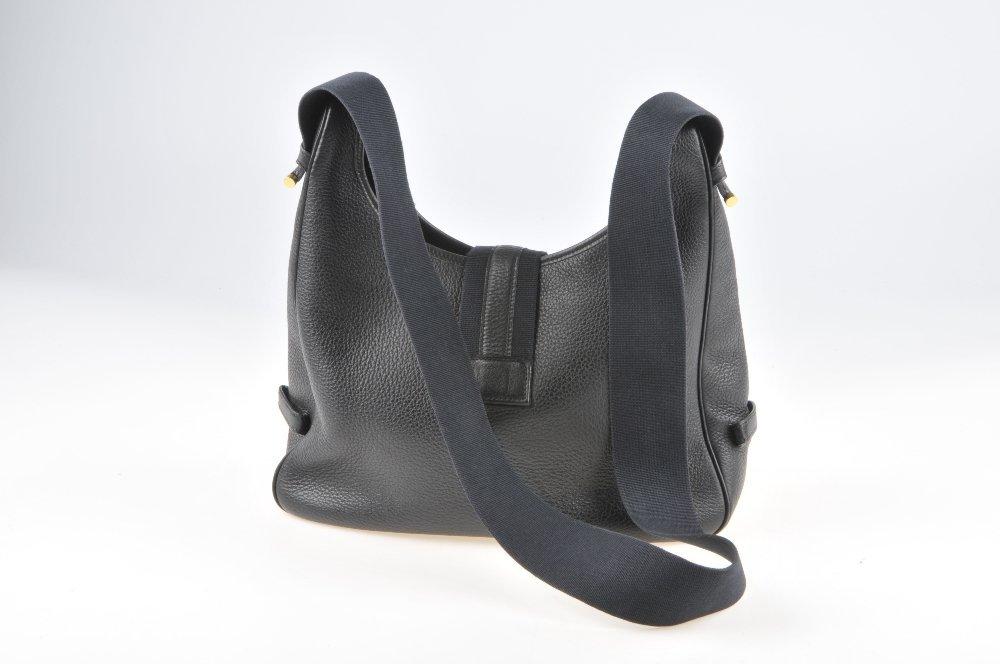 HERMES - a Sako handbag. Designed with a grained black - 2