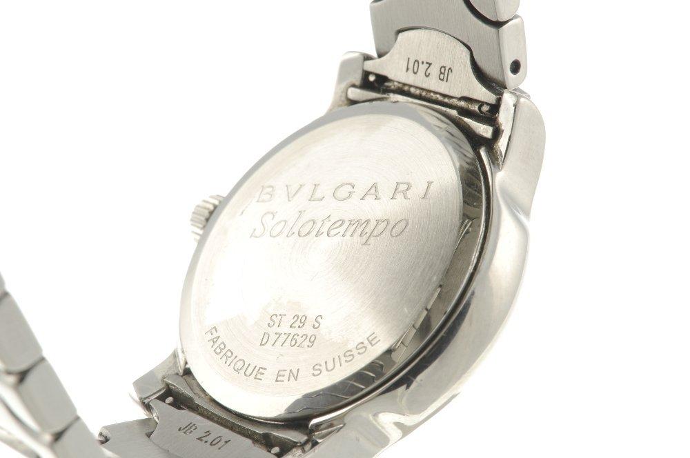 BULGARI - a lady's Solotempo bracelet watch. Stainless - 3