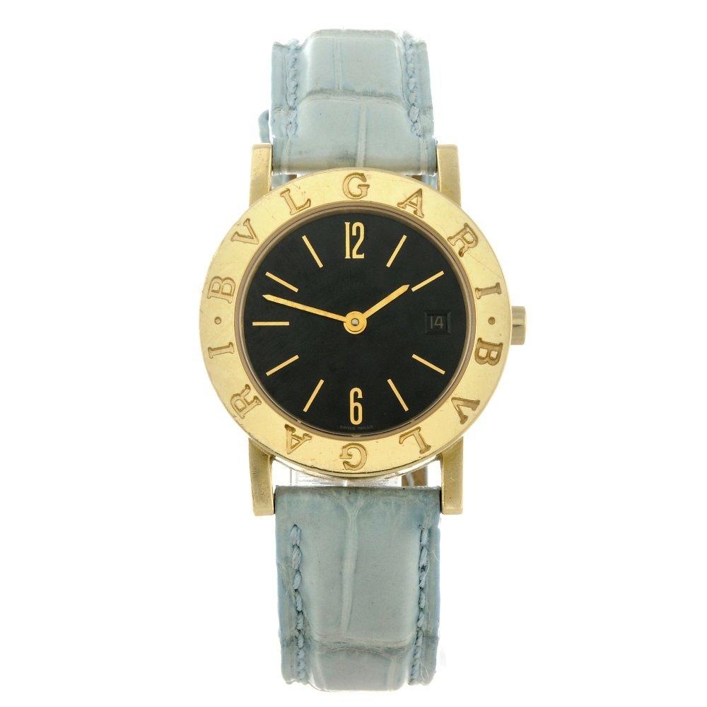 BULGARI - a lady's Bulgari wrist watch. 18ct yellow