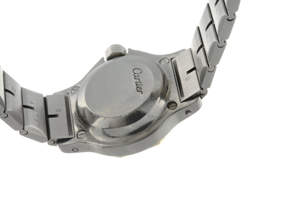 CARTIER - a Santos Ronde bracelet watch. Stainless - 2