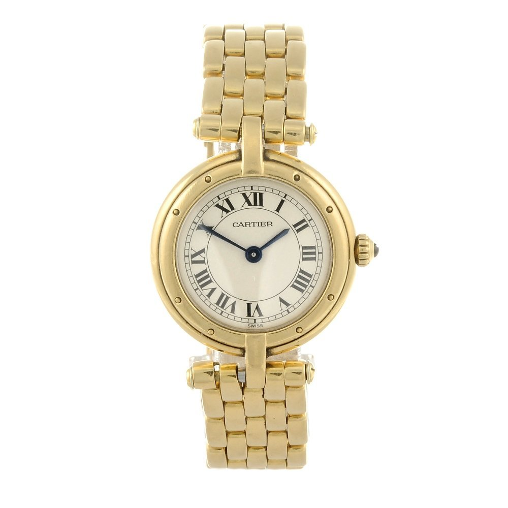 CARTIER - a Panthere Figaro bracelet watch. Yellow