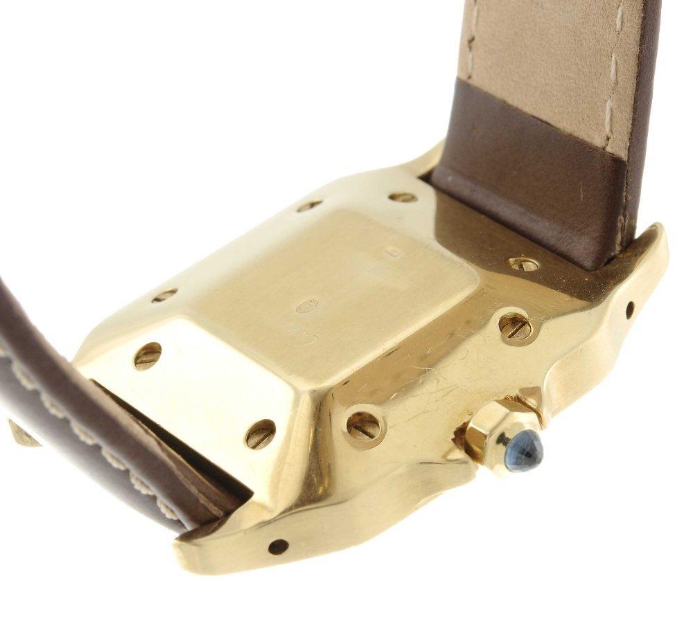 CARTIER - a Santos wrist watch. Yellow metal case, - 2