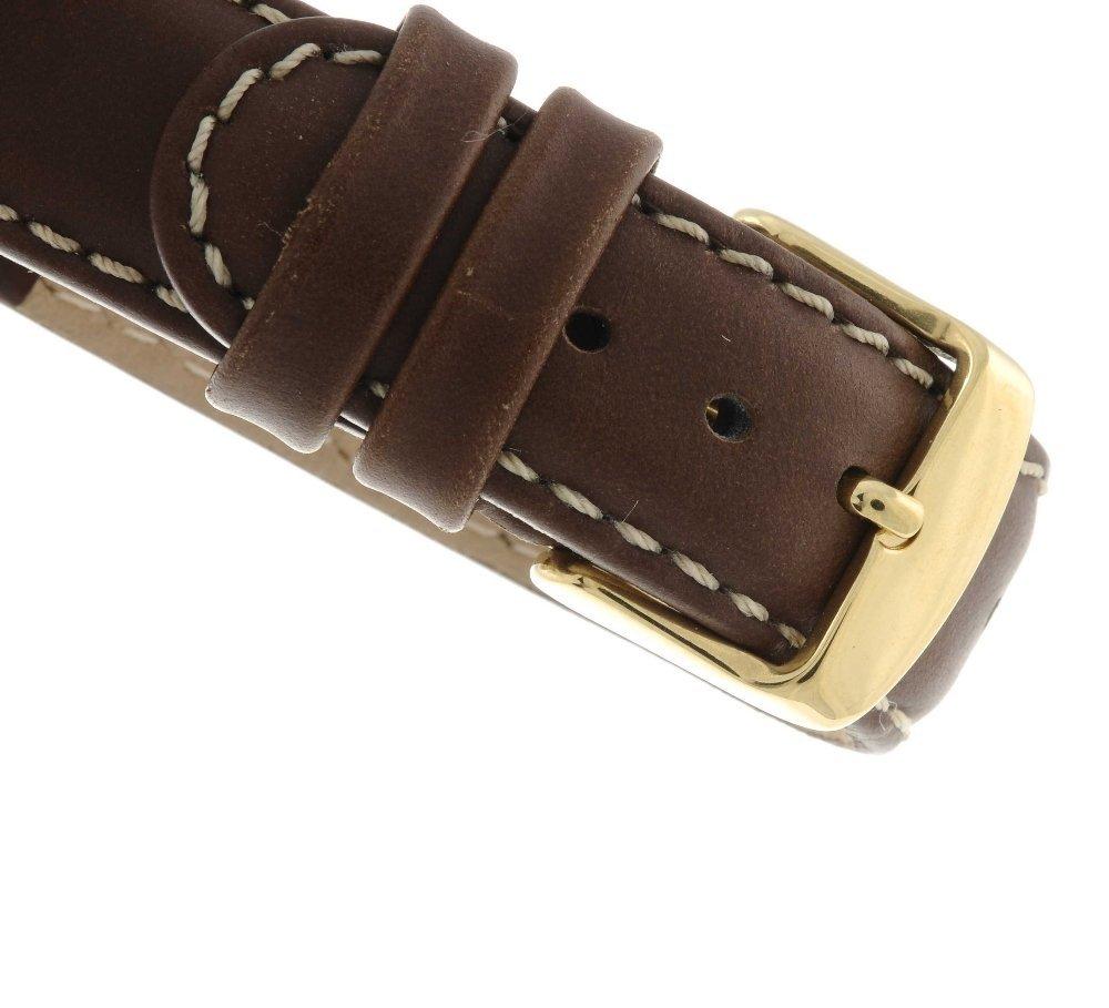 CARTIER - a Santos wrist watch. Yellow metal case, - 4