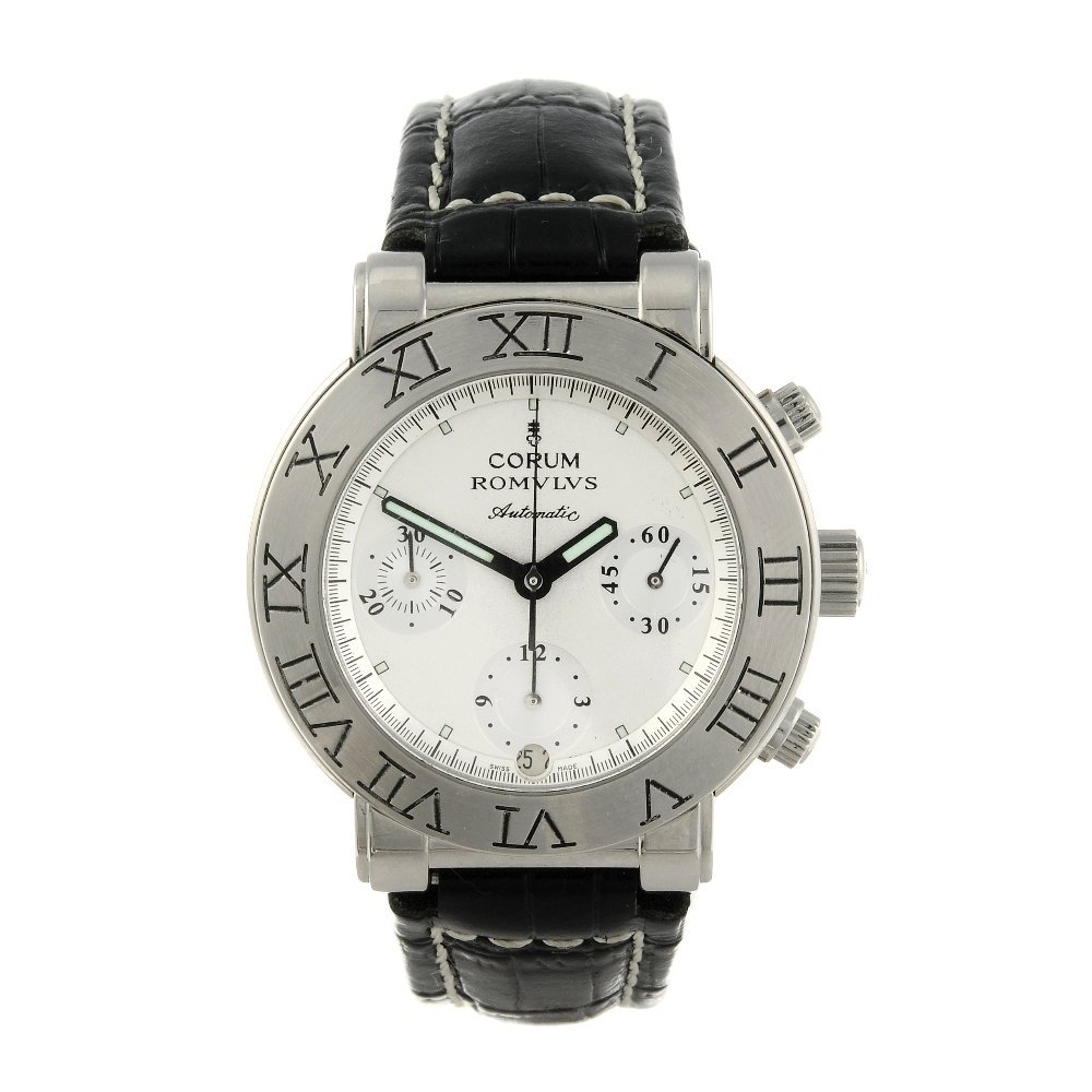 CORUM - a gentleman's Romulus chronograph wrist watch.
