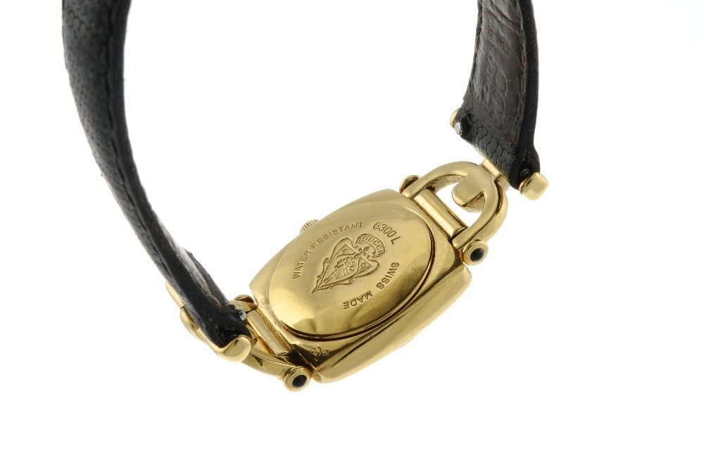 GUCCI - a lady's 6300L wrist watch. Gold plated case. - 2
