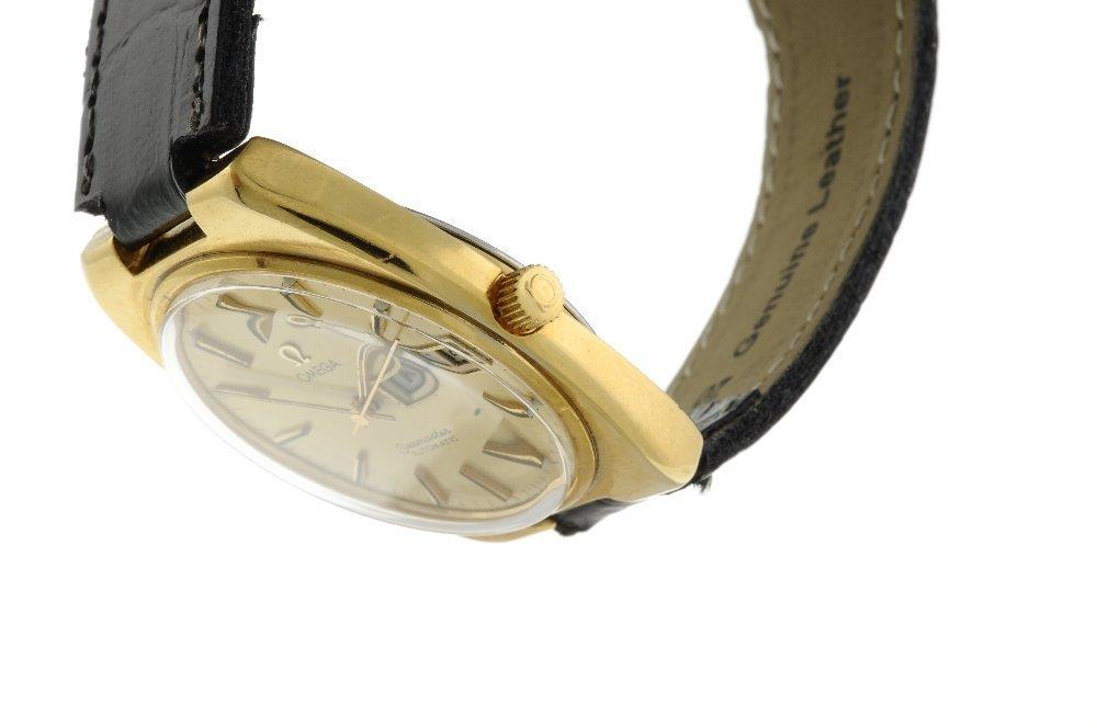 OMEGA - a gentleman's Seamaster wrist watch. Gold - 3