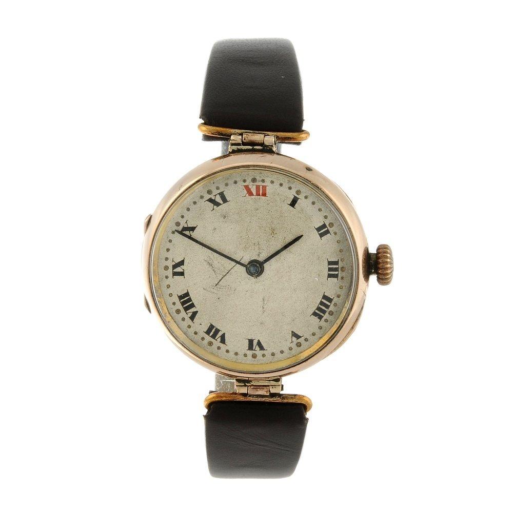 ROLEX - a wrist watch. 9ct rose gold case, import