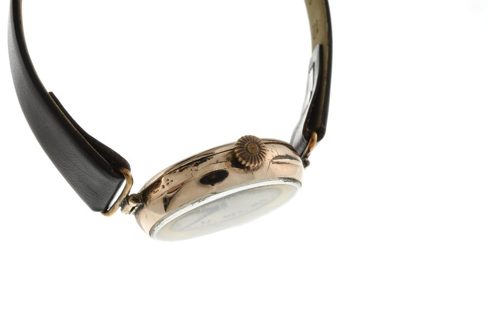 ROLEX - a wrist watch. 9ct rose gold case, import - 3
