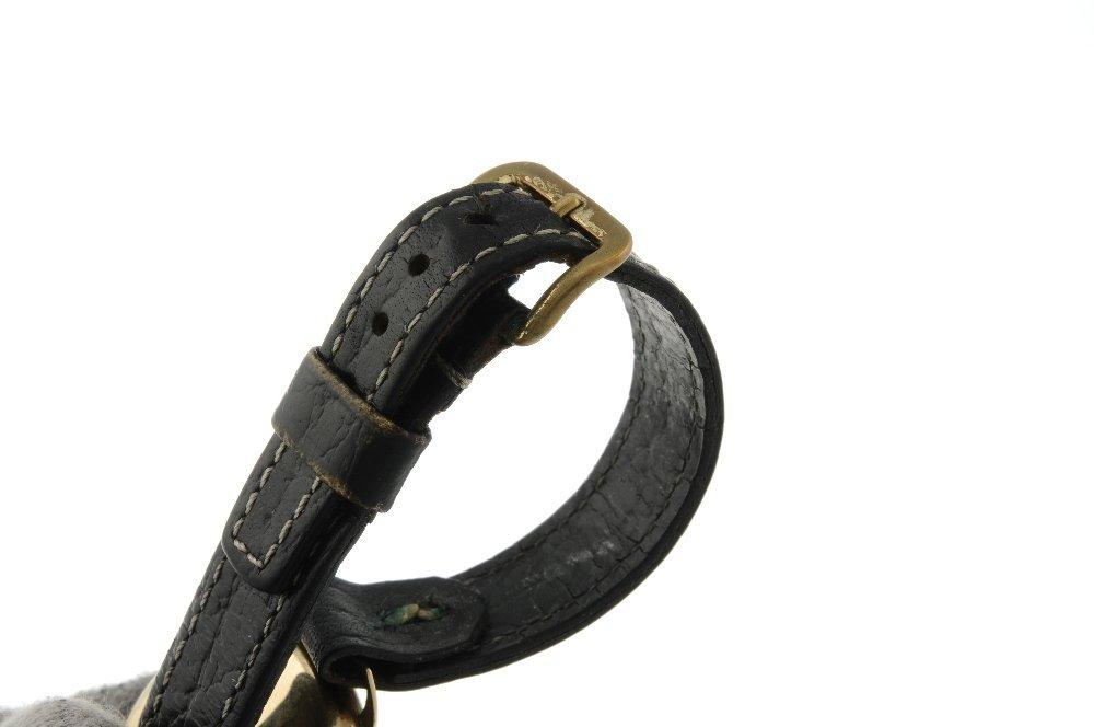 A gentleman's wrist watch. 9ct yellow gold case, - 4
