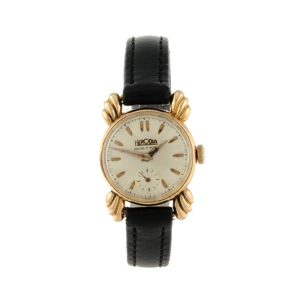 HERODIA - a lady's wrist watch. Yellow metal case,