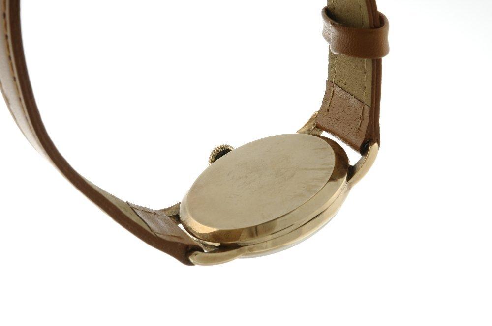 RONE - a gentleman's wrist watch. 9ct yellow gold case, - 2
