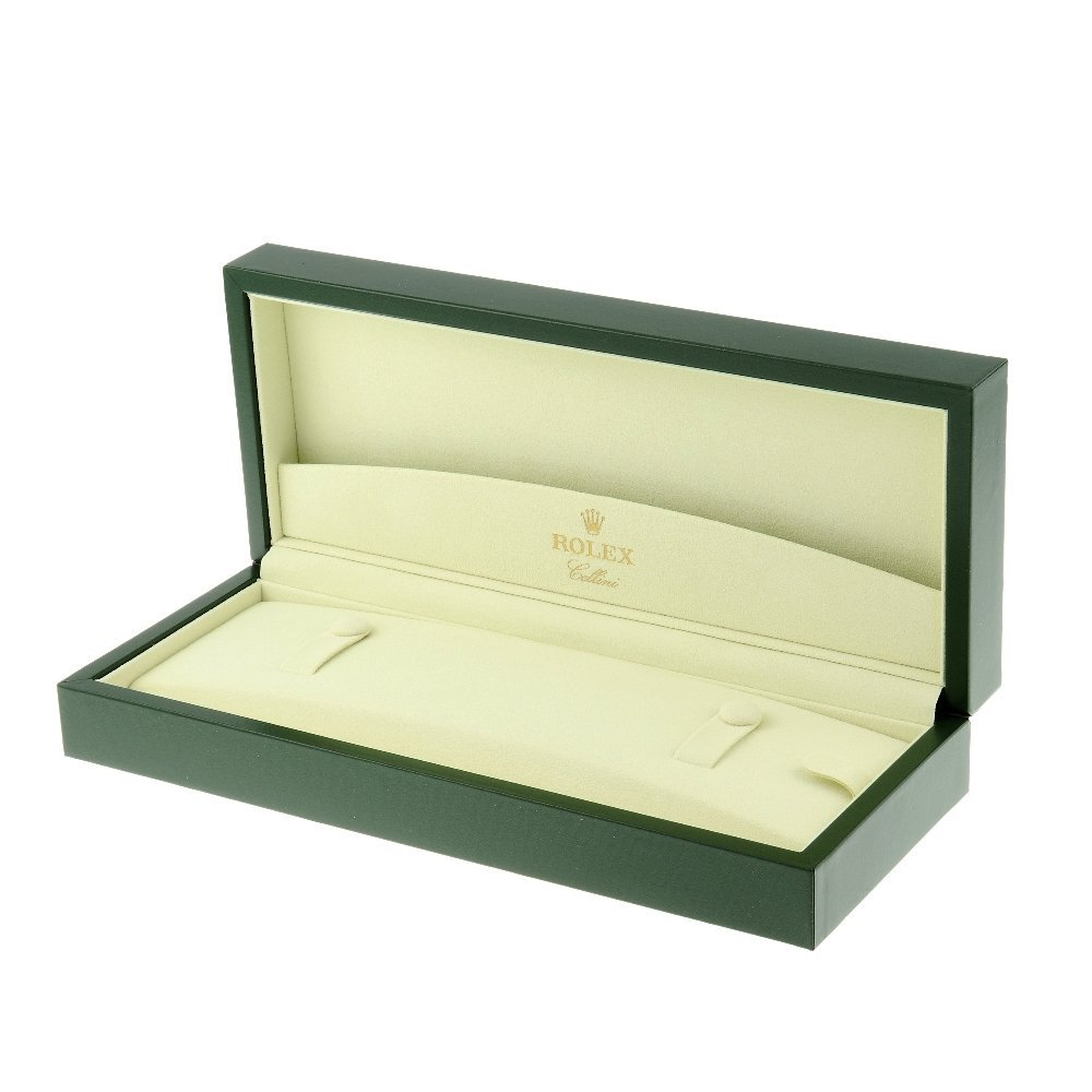 ROLEX - a complete Cellini watch box.   Overall inner