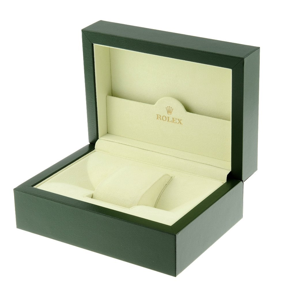 ROLEX - an incomplete watch box.   Inner box shows some