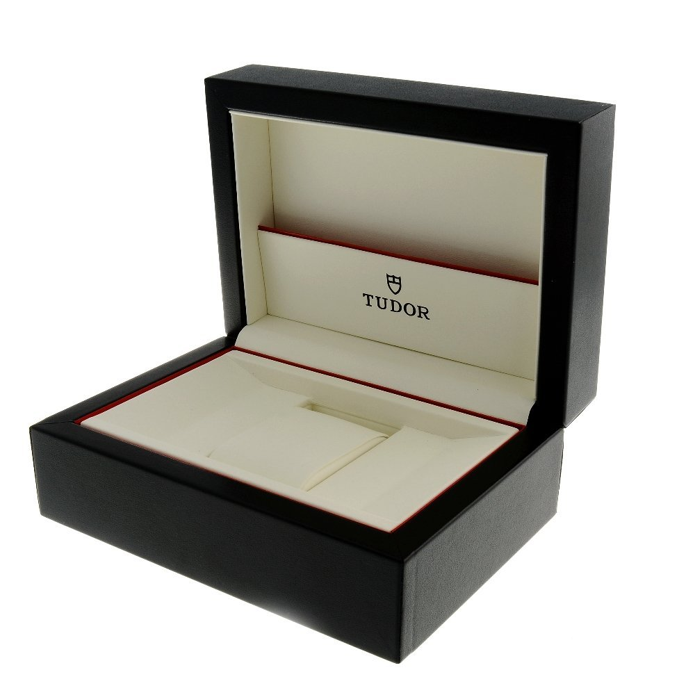 TUDOR - a complete watch box.   Cardboard sleeve has