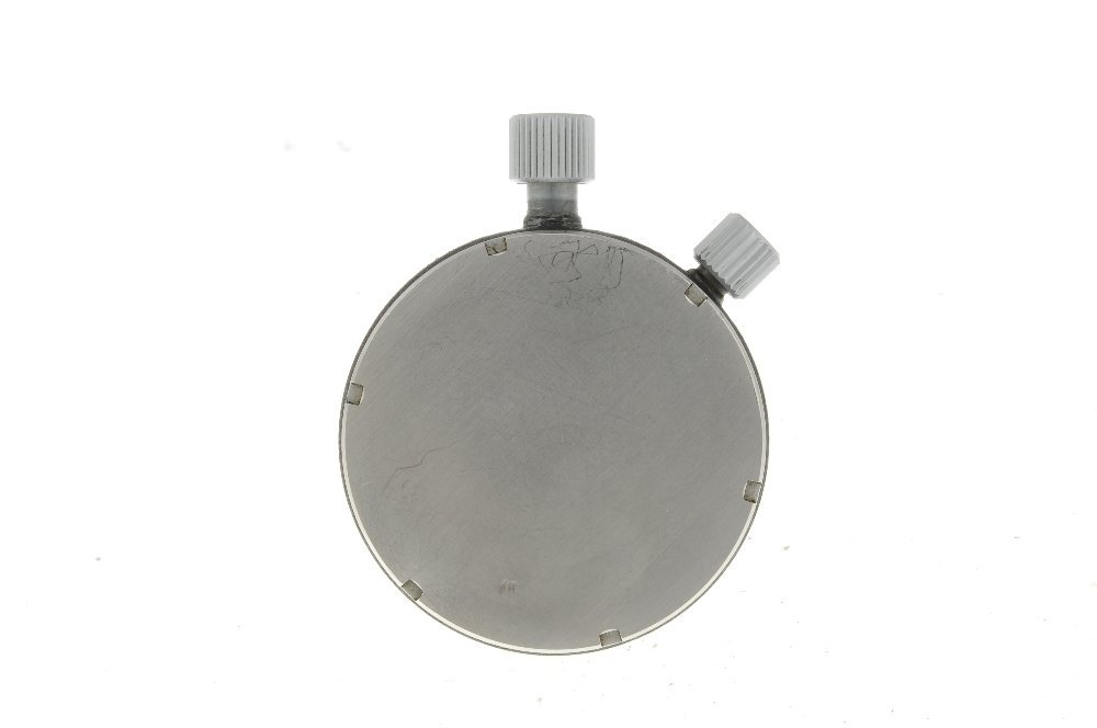 An open face stopwatch by Omega. Coated base metal case - 2