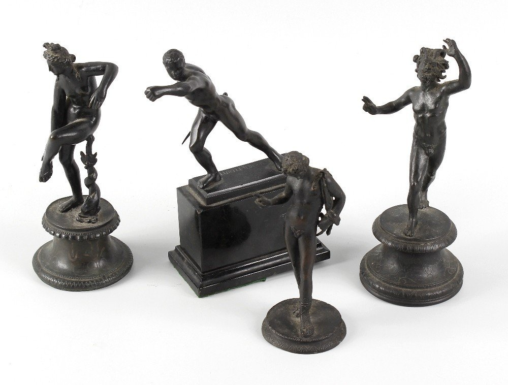 Four 19th century Grand Tour souvenir bronzes, each
